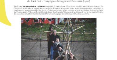 APPEL A PARTICIPANTS pour un chantier de construction artistique et un geste collectif dans l'espace public